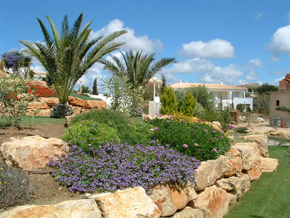 rock garden in Algarve